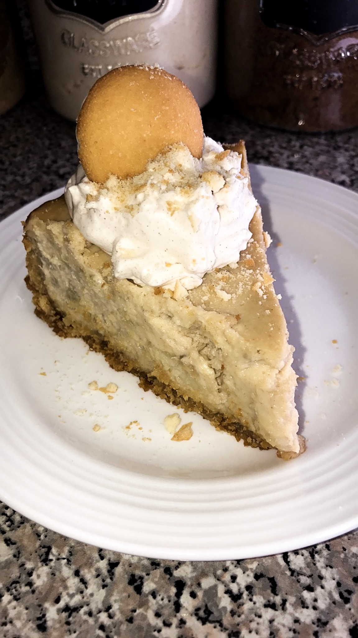 Banana Pudding Cheesecake w/ cinnamon whipped cream