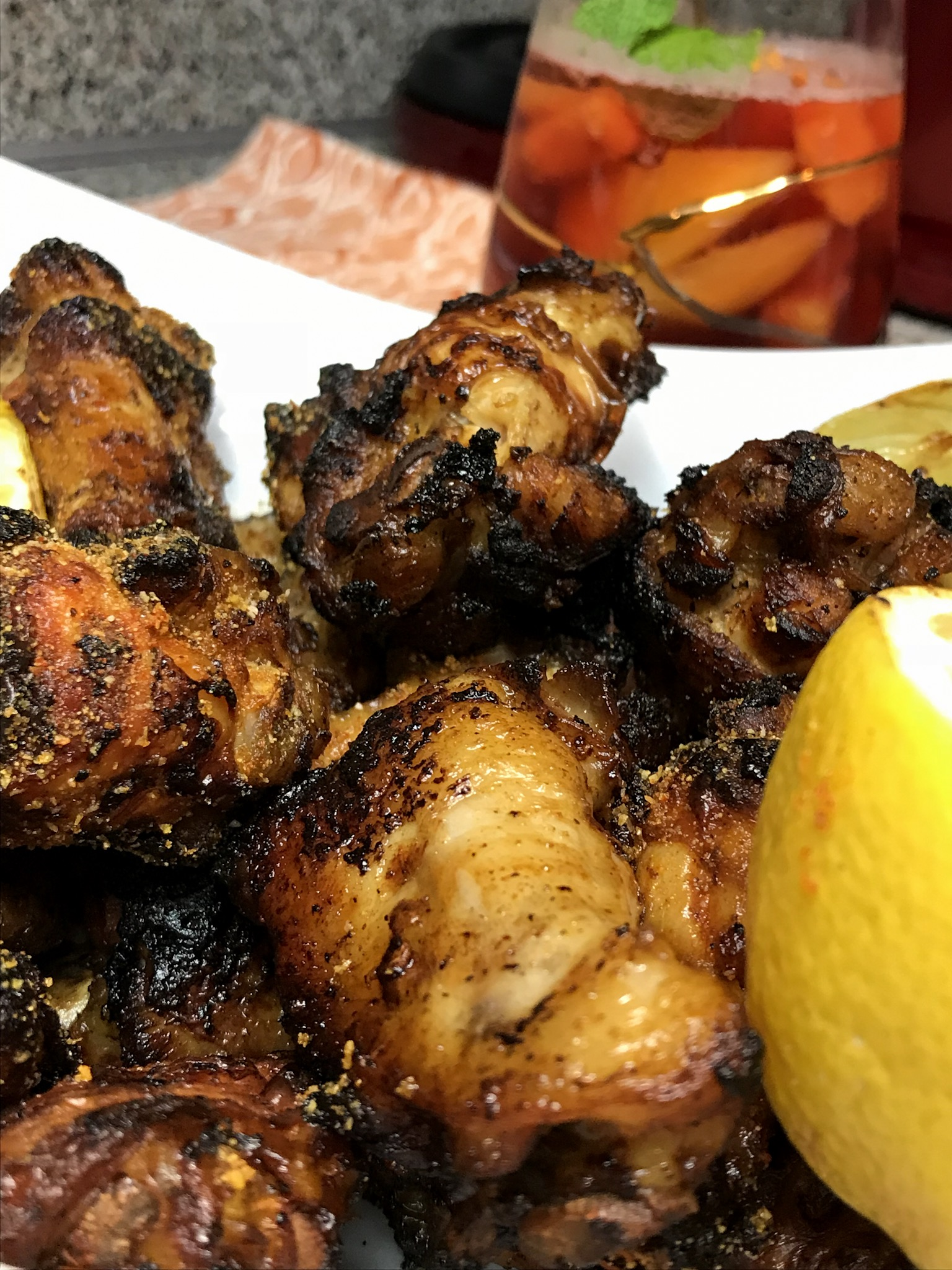 Honey citrus wings